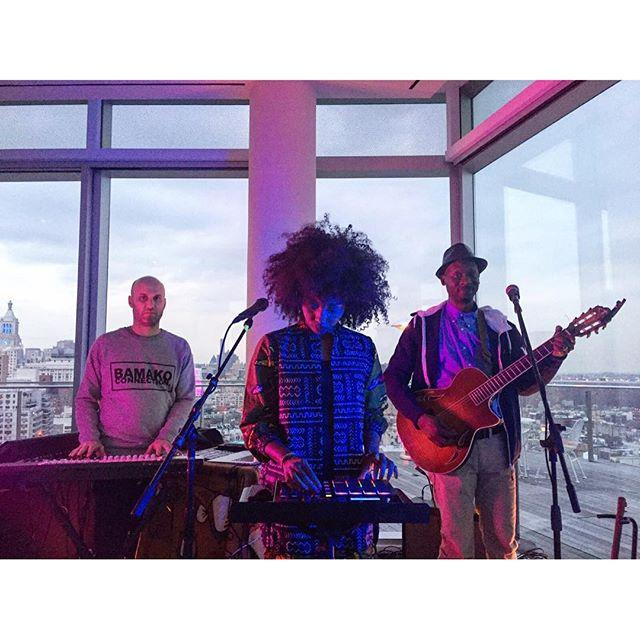 Soundcheck at The Standard Hotel yesterday